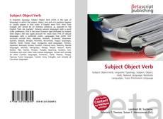 Buchcover von Subject Object Verb