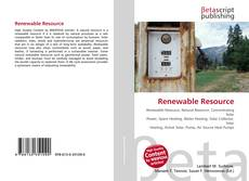 Bookcover of Renewable Resource