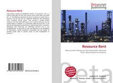 Capa do livro de Resource Rent