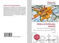 Bookcover of Politics of Schleswig-Holstein
