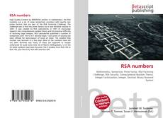 Bookcover of RSA numbers