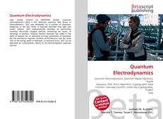 Bookcover of Quantum Electrodynamics