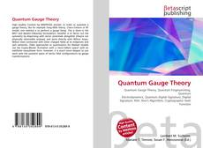 Couverture de Quantum Gauge Theory