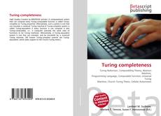 Bookcover of Turing completeness