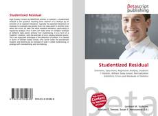 Bookcover of Studentized Residual