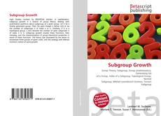 Обложка Subgroup Growth