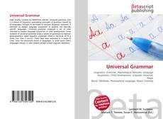 Bookcover of Universal Grammar