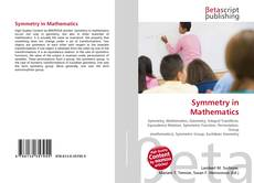 Bookcover of Symmetry in Mathematics