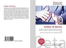 Zulfikar Ali Bhutto kitap kapağı
