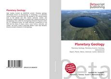Bookcover of Planetary Geology