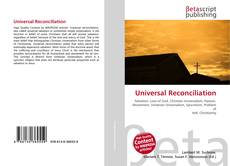 Bookcover of Universal Reconciliation