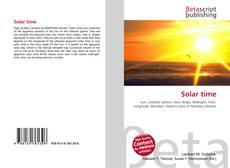 Borítókép a  Solar time - hoz
