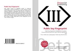 Bookcover of Public key Fingerprint