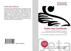 Bookcover of Public Key Certificate