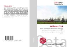 Buchcover von Wilhelm Frick
