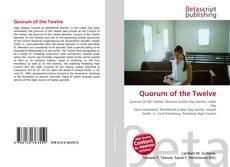Borítókép a  Quorum of the Twelve - hoz