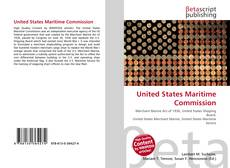 Bookcover of United States Maritime Commission