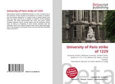 Обложка University of Paris strike of 1229