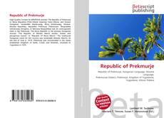 Bookcover of Republic of Prekmurje