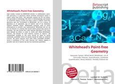 Capa do livro de Whitehead's Point-free Geometry