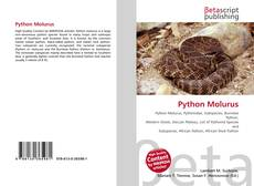 Portada del libro de Python Molurus