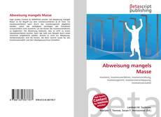 Bookcover of Abweisung mangels Masse