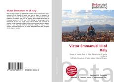 Bookcover of Victor Emmanuel III of Italy