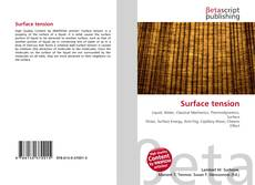 Bookcover of Surface tension