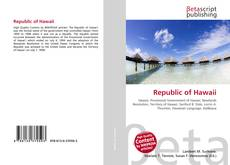 Bookcover of Republic of Hawaii