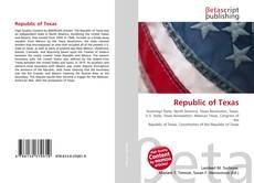 Bookcover of Republic of Texas