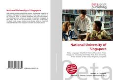 Bookcover of National University of Singapore