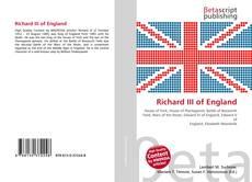 Bookcover of Richard III of England