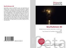 Copertina di Wurfrahmen 40