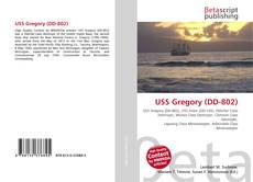 Bookcover of USS Gregory (DD-802)