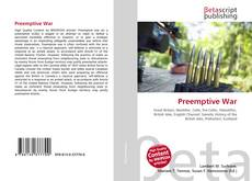 Bookcover of Preemptive War