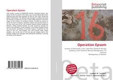 Portada del libro de Operation Epsom