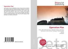 Capa do livro de Operation Flax