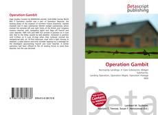 Capa do livro de Operation Gambit