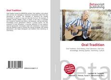 Bookcover of Oral Tradition