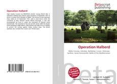 Capa do livro de Operation Halberd
