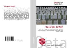 Capa do livro de Operation Lüttich