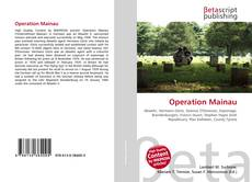Bookcover of Operation Mainau