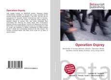 Capa do livro de Operation Osprey