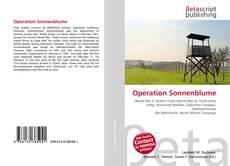 Capa do livro de Operation Sonnenblume