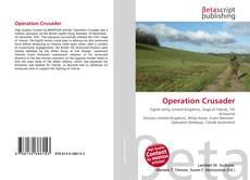 Capa do livro de Operation Crusader
