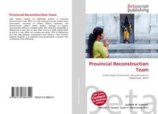 Bookcover of Provincial Reconstruction Team