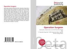 Capa do livro de Operation Surgeon