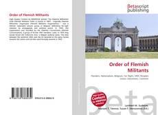 Portada del libro de Order of Flemish Militants