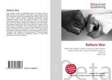 Bookcover of Reform War