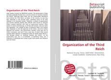 Portada del libro de Organization of the Third Reich